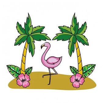 熱帯夏ピンクフラミンゴ漫画