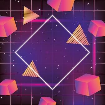 ネオグラフィックテクスチャと幾何学的なスタイル