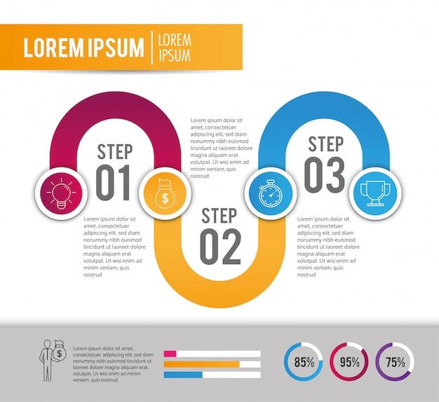 事業戦略計画とインフォグラフィックプロジェクト
