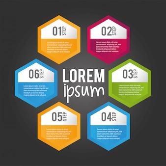 ビジネスインフォグラフィックプロセス情報計画