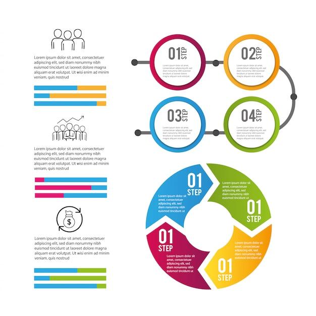 インフォグラフィックデータビジネス情報処理