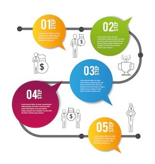 インフォグラフィックビジネスデータレポート情報