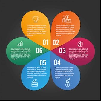 ビジネス図とインフォグラフィックデータ情報