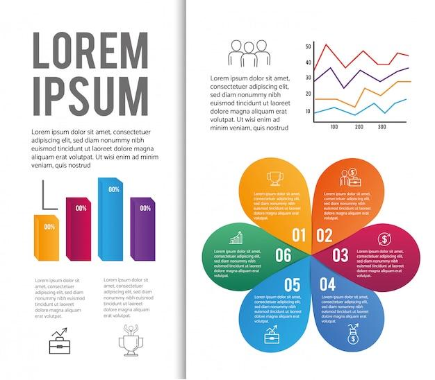 ダイアグラムビジネス情報を含むデータインフォグラフィック