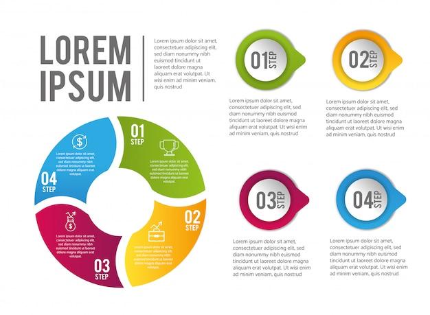 ローレムイプサムとインフォグラフィックデータレポート