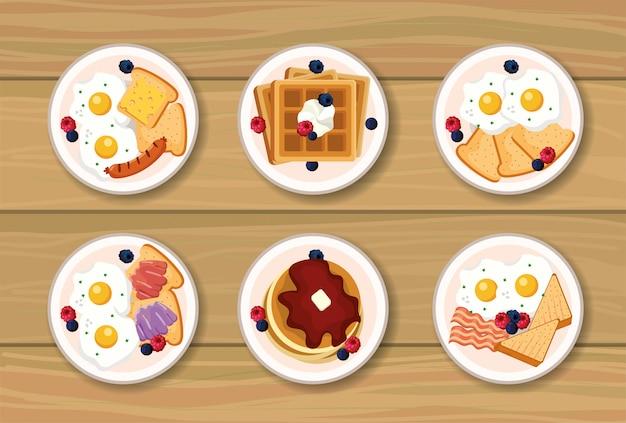 Установите здоровый завтрак с белковой пищей
