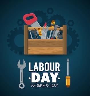 Строительные инструменты для празднования дня труда