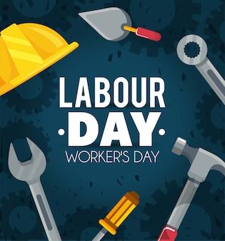 自由休日への労働者の日のお祝い