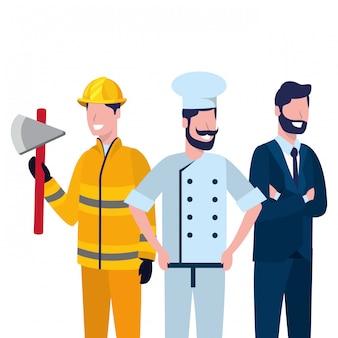 労働日の仕事の漫画