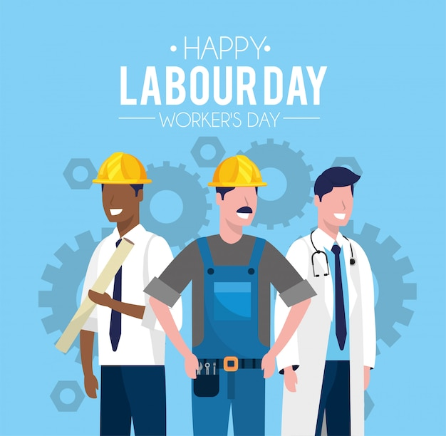Трудящиеся празднуют день труда