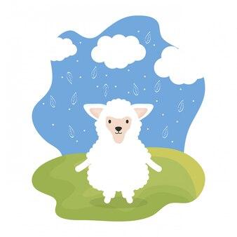 かわいい羊のかわいいキャラクター