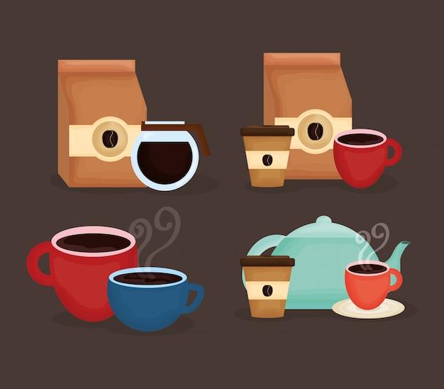 美味しいコーヒーとティータイムのアイコン