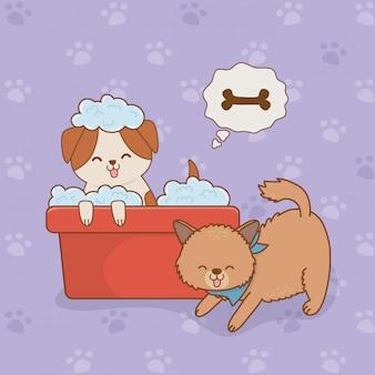 Симпатичные маленькие собачки талисманы персонажей