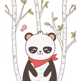 かわいいクマパンダの森の文字