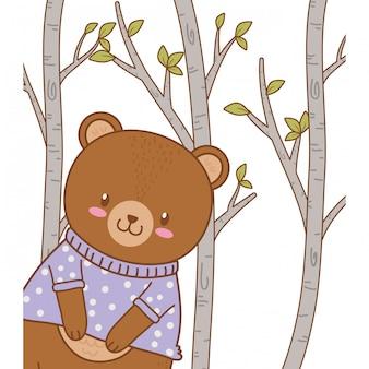 Милый медведь лесной характер