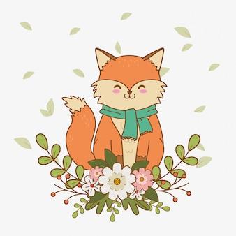 キツネの森のかわいいキャラクター