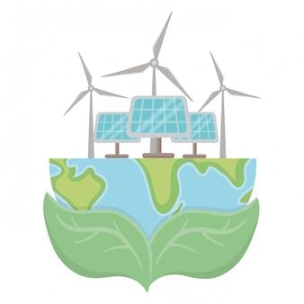 Изолированный эко дизайн панели солнечных батарей
