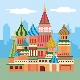 聖ワシリイ大聖堂のモスクワデザイン