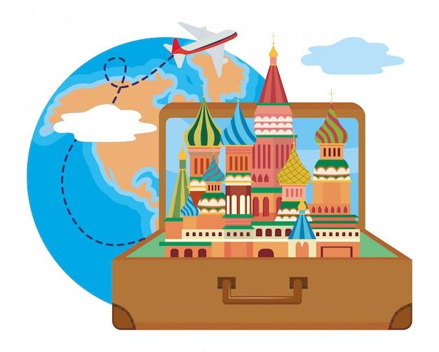 聖ワシリイ大聖堂のモスクワデザインベクトルイラスト