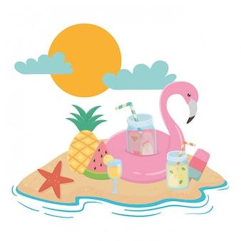 夏と休暇の要素