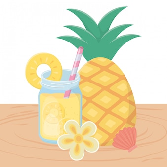パイナップルジュースドリンク