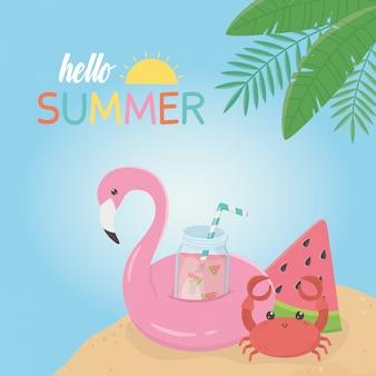 こんにちは夏フランドルフロートアイコン