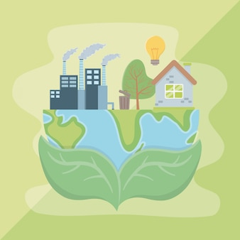 Покидает планету и сохраняет дизайн энергии