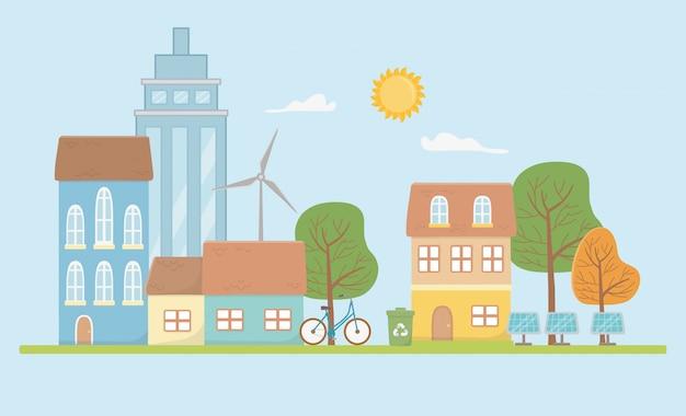 Эко город и сохранить дизайн планеты