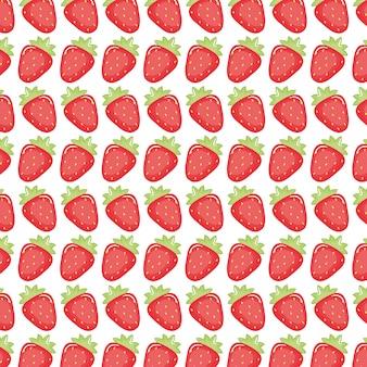 新鮮なイチゴのパターンの背景
