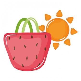 Сумочка женская с летним солнцем