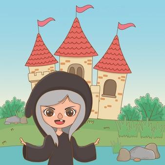 おとぎ話の中世魔女漫画