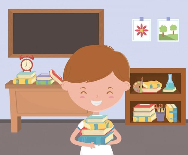 学校で男の子の子供