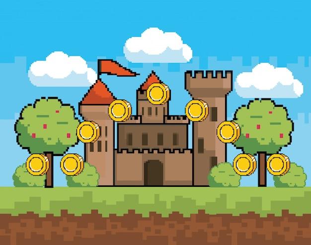 アーケードゲームの世界とピクセルシーン
