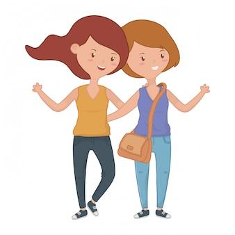 Девочки-подростки друзья