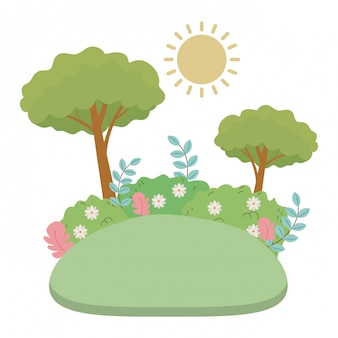 抽象と季節の木