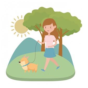 Мультфильм девочка с собакой