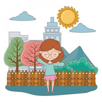 Девушка-подросток из мультфильма