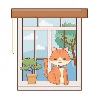 猫漫画クリップアートイラスト