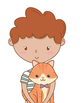 Мальчик с котом