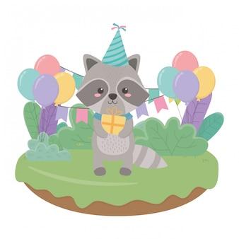 お誕生日おめでとうアライグマ漫画