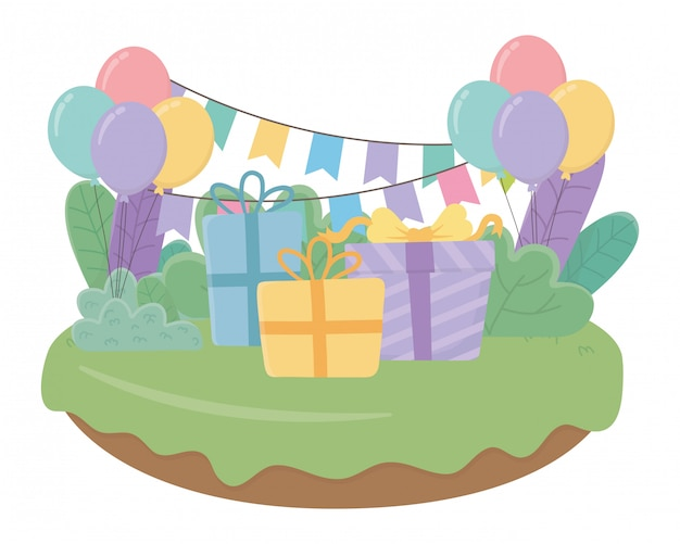 С днем рождения и праздничными подарками