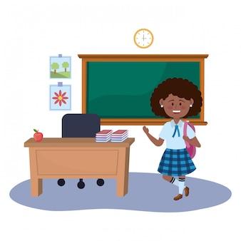 Девочка малыш школьного дизайна