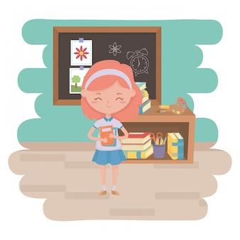 教室の設計の学校の女の子の子供