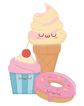 アイスクリーム漫画のかわいい