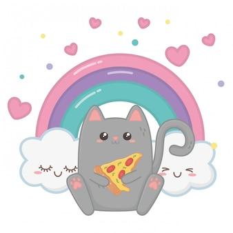 猫漫画のかわいい