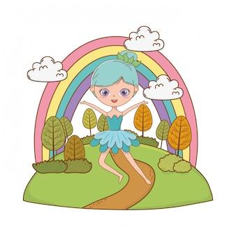 おとぎ話イラストの妖精漫画