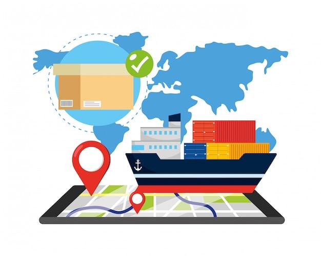 配送追跡サービスの配送ロジスティック