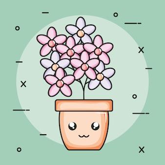 鉢植えのかわいいキャラクター