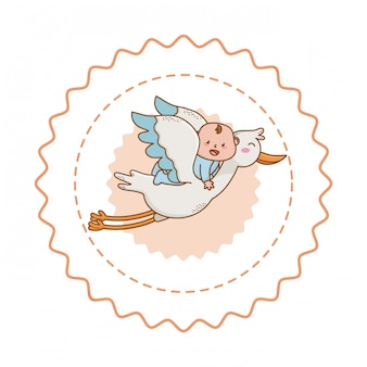 Детский душ милая иллюстрация
