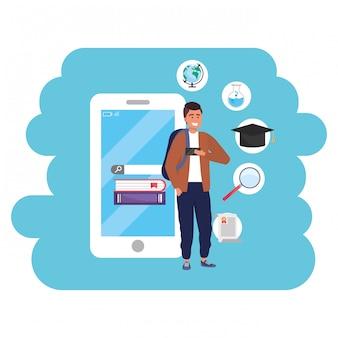 スマートフォンを使用したオンライン教育ミレニアル世代の学生